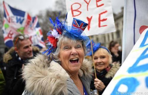поддржувачите на Брегзит слават