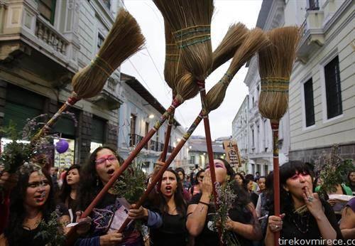 протест против насилството на жените во Кито, Еквадор