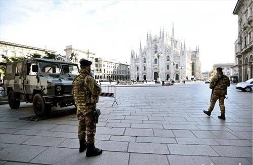 Милано со војска и опасноста од корона вирусот