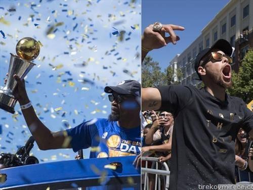 Окланд  ги поздрави НБА шампионите на Голден стејтна