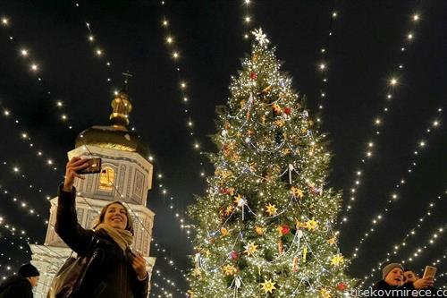 Киев украсен за Нова година