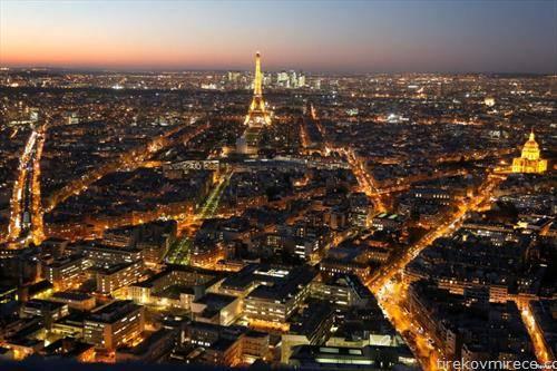 вечерен поглед на  Париз