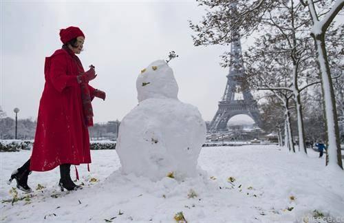 париз под снег