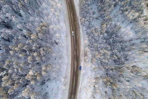 автопат во Сибир, близу Краснојарск