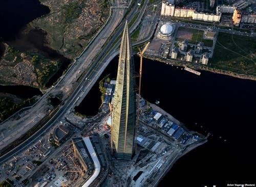 највисокиот небодер во Европа се наоѓа во Санкт Петербург