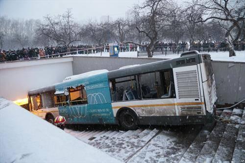 кога автобусот ќе го згреши патот. Москва