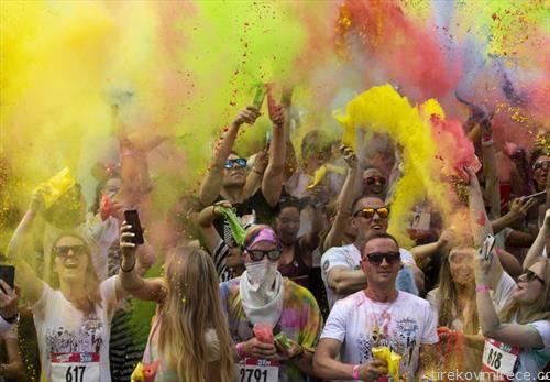 забава со боја, во Москва
