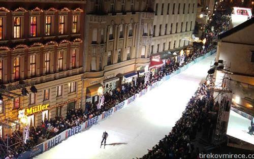 ски трка по улиците  на Загреб, возеа ветерани, Костелиќ, Томба, Џирардели