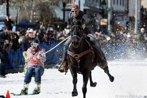 ски забава, скијање на коњ во Монатана  САД