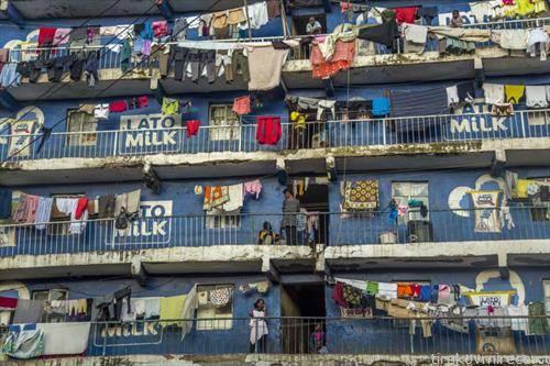 жители на зграда во Најроби Кенија