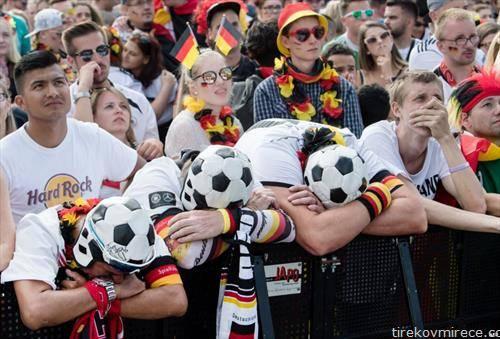 разочарани Германци по елиминациите