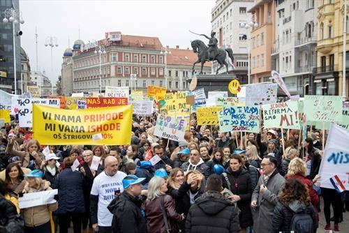 хрватските просветни работници штрајкуваат