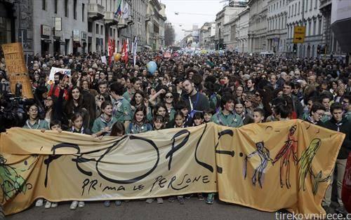 во Милано протест против расизмот