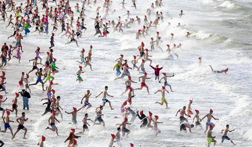масовно капење во Шевенинген во Холандија на 1-ви јануари