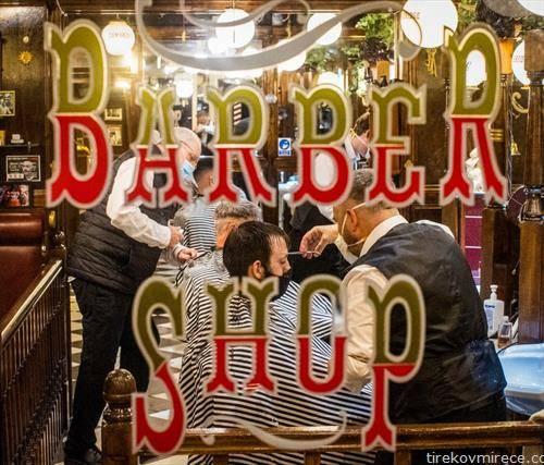 берберниците, фризерниците, повторно отворени во Белфаст