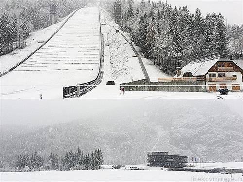 на Планица стигна снегот