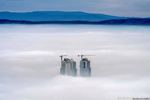 скопје во магла