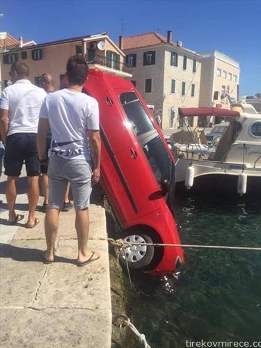 кола во море во шибеник
