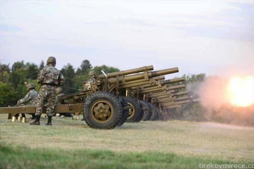 Почесна артилериска стрелба за Денот на АРМ