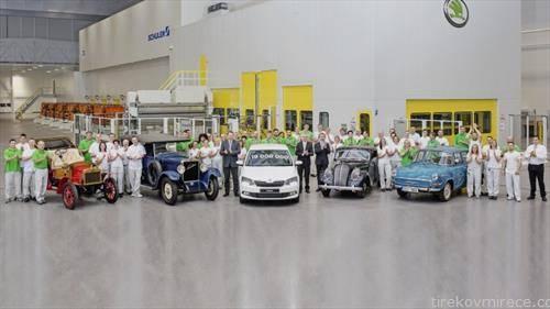 чешката марка слави 19 милиони возила симнати од фабричките ленти, а последното е бела фабија