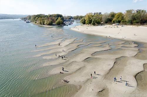 Есенва реката Дунав во Хрватска и Србија бележи рекордно низок водостој