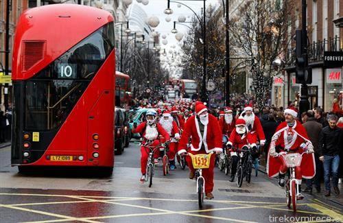 во Лондон Дедо Мразвоците возеа точак