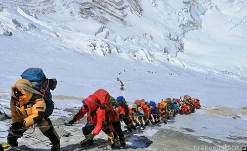 искачување на највисокиот врв на светот, Монт еверест