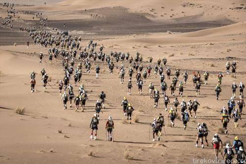 учесници на маратон низ пустината во Мароко