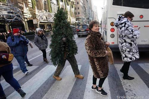 подвижна новогодишна елка, во Њујорк
