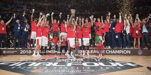 ЦСКА Москва по осми пат се искачи на тронот најдобар кошаркарски тим во Европа