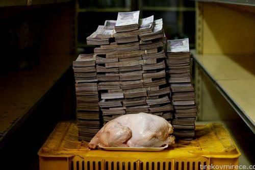 колку пари чини една кокошка во Венецуела која има рекордна инфлација