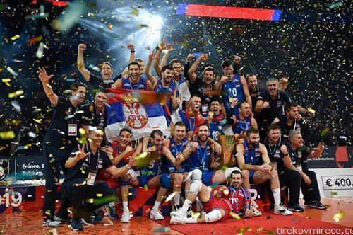 Србија е европски првак во одбојка