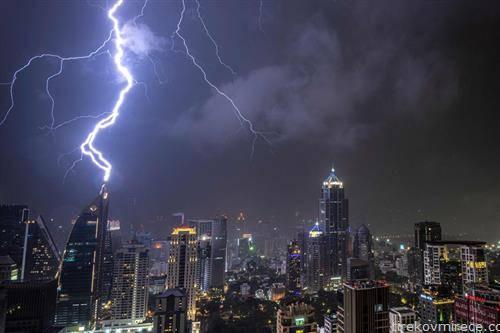 гром во зграда во Банког