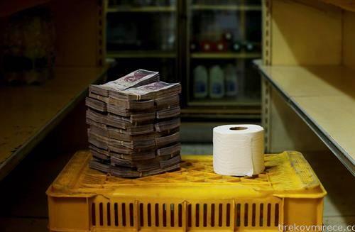 а еве колку пари е една тоалет хартија во Венецуела