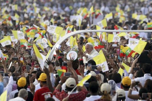 дочек на Папата во Мијанмар