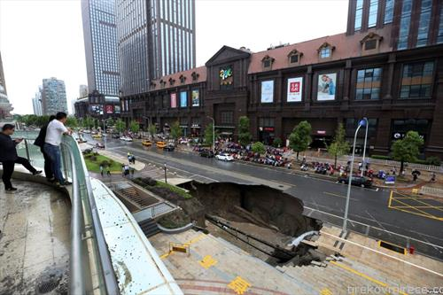 дупка на пат во кинески градна