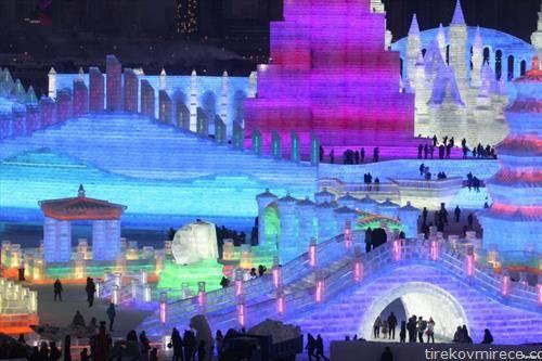 паркот во Кина од ледени куќиу