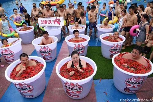 натпревар во јадење лути чили пиперчиња