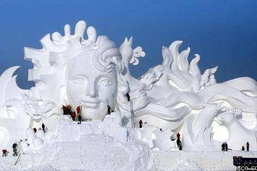 снежни фигури во Кина