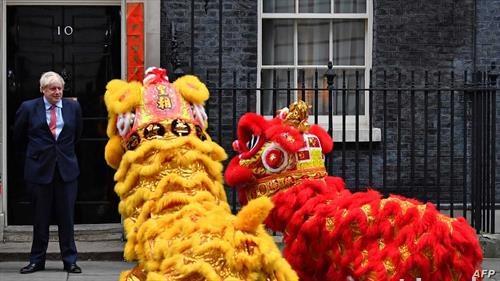 за пречекот на Кинеската Нова година, пред британскиот премиер