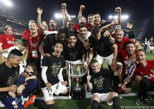Валенсија ја шокираше Барселона во финалето на Шпанскиот куп