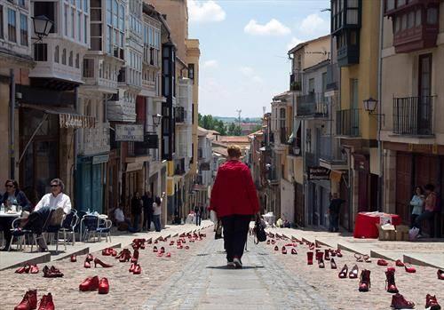 улицата на црвените чевли во Лисабон