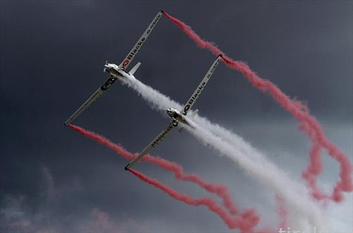 литванската авијација на аеро митинг