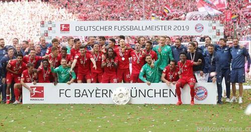 фудбалерите на Баерн се прваци на Германија