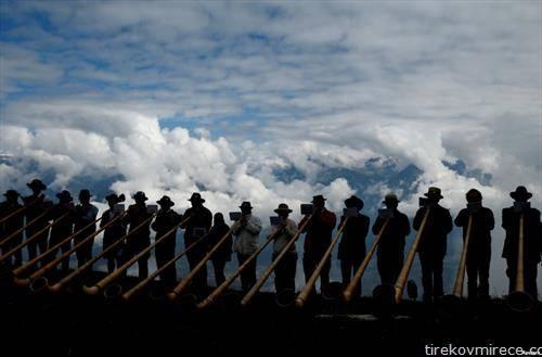 музички фестивал на рог, во Швајцарија