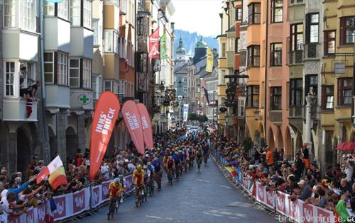 завршница на трката на СП во велосипедизам, во Австрија
