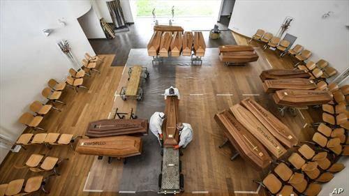 жртви на корона вирусот во црква во Бергамо