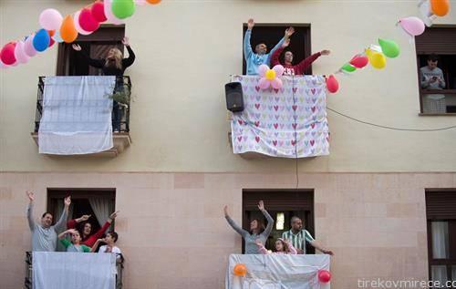 забава на тераса во Шпанија