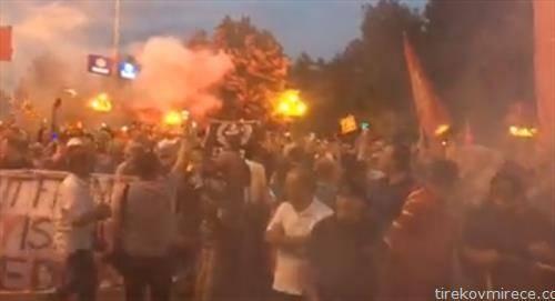 Седуммина полицајци се повредени на протестите пред Собрание