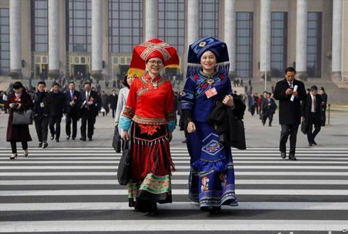делегатки на Народниот конгрес на Кина